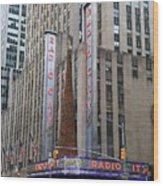 Radio City Music Hall New York City Wood Print