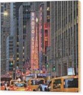 Radio City Music Hall New York Wood Print