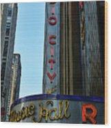 Radio City Music Hall Wood Print by Paul Ward