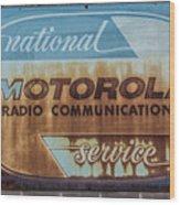 Radio Communications Wood Print