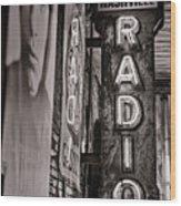 Radio Nashville - Monochrome Wood Print