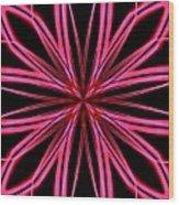 Radioactive Snowflake Red Wood Print