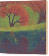 Radioactive Waters Wood Print
