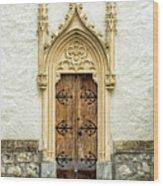 Radovljica Church Door Wood Print