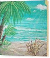 Raelee's Beach Wood Print