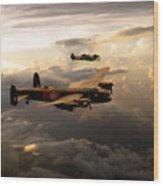 Raf Lancaster And Spitfire Wood Print