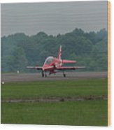 Raf Red Arrow Jet Lands Wood Print