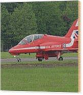 Raf Red Arrows Jet Lands Wood Print