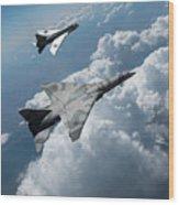 Raf Tsr.2 Advanced Bomber With Lightning Interceptor Wood Print