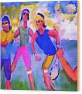Rafa Tennis At The French Wimbleton And U.s. Open Wood Print by Stanley Morganstein