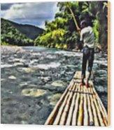Rafting Wood Print