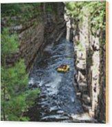 Rafting In A Gorge Wood Print