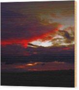 Rage - Sunset Wood Print