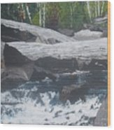 Ragged Falls Wood Print