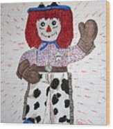 Raggedy Andy Cowboy Wood Print