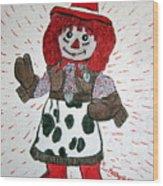 Raggedy Ann Cowgirl Wood Print