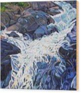 Ragging Waters Wood Print