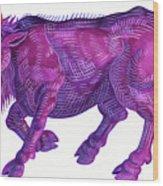 Raging Bull Taurus Wood Print