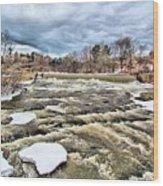 Raging Royal River Wood Print