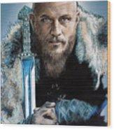 Ragnar Lothbrok Wood Print