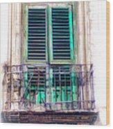 Ragusa Window Wood Print
