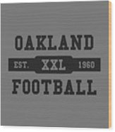 Raiders Retro Shirt Wood Print