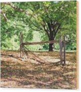 Split Rail Section Wood Print