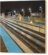 Rail Perspective Wood Print
