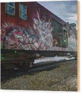 Railcar Graffiti Wood Print