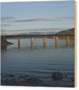 Railroad Bridge Over The Pend Oreille Wood Print