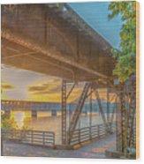 Railroad Bridge12 Wood Print