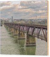 Railroad Bridge3 Wood Print