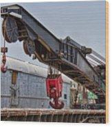 Railroad Crane Wood Print