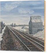 Railroad Going North  Wood Print