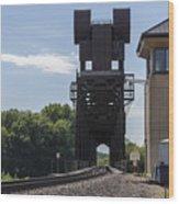 Railroad Lift Bridge 2 C Wood Print