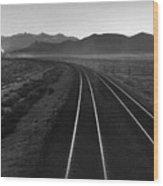 Railroad Lines Wood Print