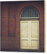 Railroad Museum Door Wood Print