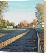 Railroad S-curve Wood Print