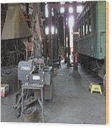 Railroad Shop Wood Print
