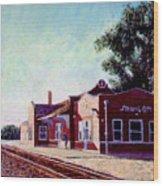 Railroad Station Wood Print by Stan Hamilton