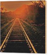 Railroad  Surreal Perspective IIi Wood Print