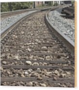 Railroad Tracks Wood Print by Danielle Allard