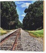 East Texas Tracks Wood Print