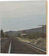 Railroad Tracks Wood Print