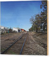 Railroad Tracks Switch Station Wood Print