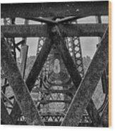 Railroad Trestle Panoramic 2 Wood Print