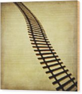 Railway Wood Print by Bernard Jaubert