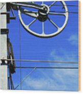 Railway Catenary Wood Print