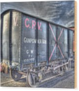 Railway Gunpowder Wagon Wood Print by Chris Thaxter