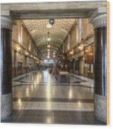 Railway Hall Wood Print